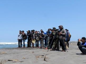 anggota PPBj dari KPB Bionic UNY beserta beberapa murid SMA N 1 Klaten (08/09/13)